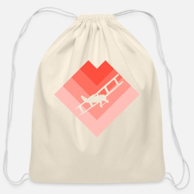 Model Airplane Model Airplane - Cotton Drawstring Bag