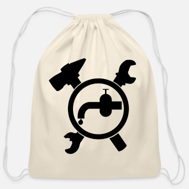 Sanitary Plumber Sanitary Fitter - Cotton Drawstring Bag