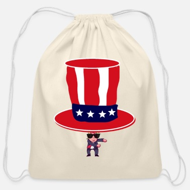 usa independence day july 4 - Cotton Drawstring Bag