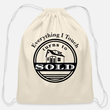 Client Real Estate Agent Sold Houses Sell Realtor Saying - Cotton Drawstring Bag