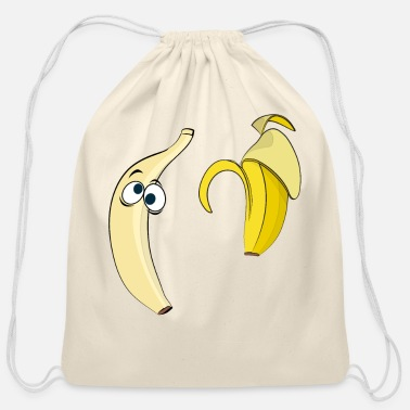 Strip Banana strip - Cotton Drawstring Bag