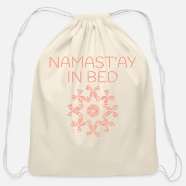New Age Namaste Yoga Pattern - Cotton Drawstring Bag