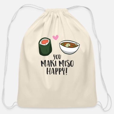 Maki You Maki Miso Happy Funny Maki Kawaii Japan Maki - Cotton Drawstring Bag