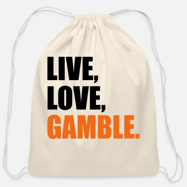 Gamble gambling - Cotton Drawstring Bag