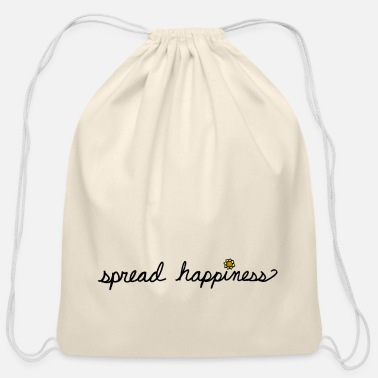 Spread Spread Happiness Women's T-shirt  - Cotton Drawstring Bag