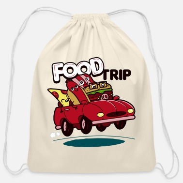 Summer food trip - Cotton Drawstring Bag
