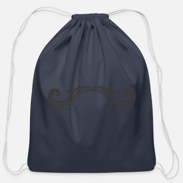 Mustache Mustache 3, mustached, - Cotton Drawstring Bag