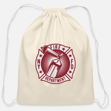 Ny NY Fire Department - Firefighter - Classic - Cotton Drawstring Bag