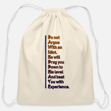 Brainy Wisdom Idiot 33 G - Cotton Drawstring Bag