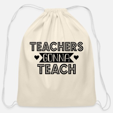 Teaching Teach - Cotton Drawstring Bag
