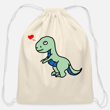Titanosaurus Green Dinosaur - Cotton Drawstring Bag