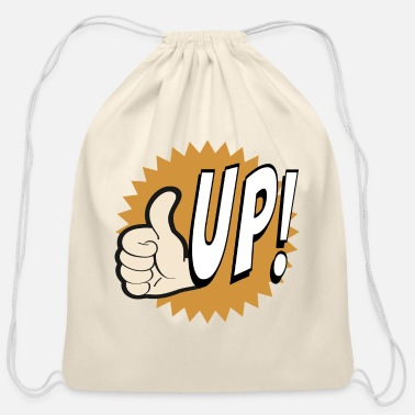 Never-give-up Thumb up. Never Give Up! - Cotton Drawstring Bag