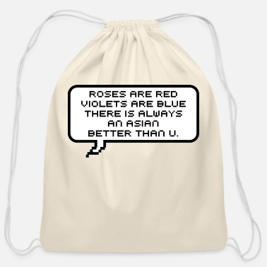 Asian Asians humor - Cotton Drawstring Bag