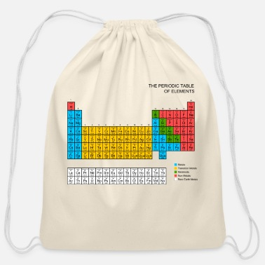 Periodic Table Periodic Table - Cotton Drawstring Bag