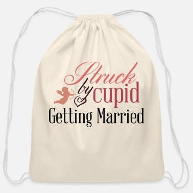 Just Getting Married - Cotton Drawstring Bag