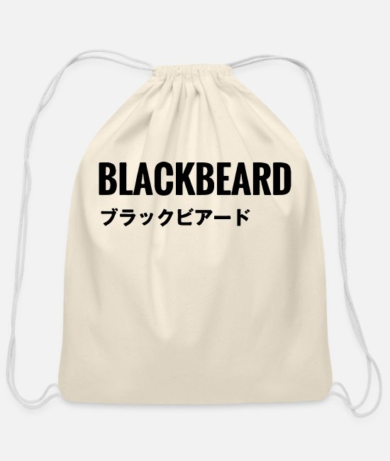 Video Game Bags & Backpacks - Rainbow Six Siege Black beard - Cotton Drawstring Bag natural