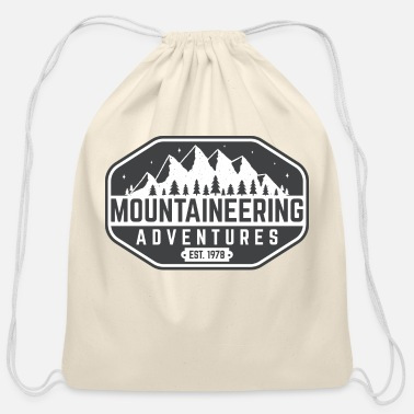 Advent mountaine advent - Cotton Drawstring Bag
