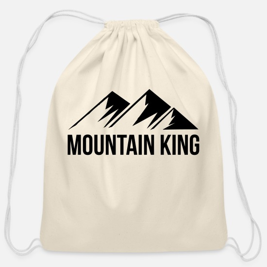 Mountain Biking Bags & Backpacks - mountain king | hill climber climbing summit climb - Cotton Drawstring Bag natural