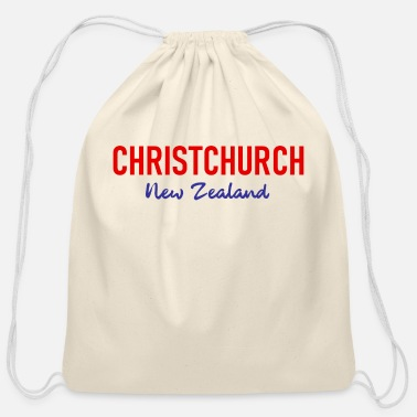 Aotearoa Christchurch - New Zealand - Aotearoa - Kiwi - Cotton Drawstring Bag