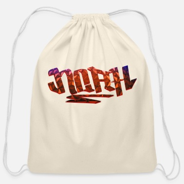 Birth Name Noah Name Design - Cotton Drawstring Bag