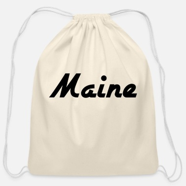 State Maine - Augusta - Portland - US State - USA - Cotton Drawstring Bag