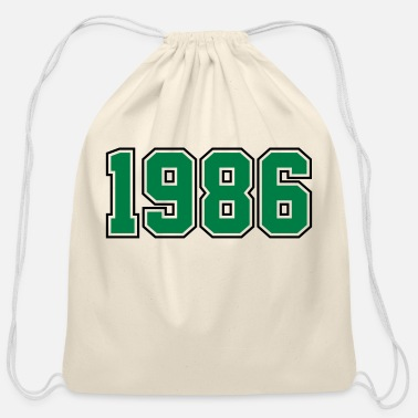 Year Of Birth 1986 | Year of Birth | Birth Year | Birthday - Cotton Drawstring Bag
