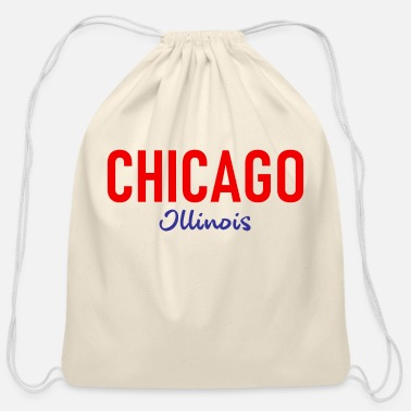The Windy City Chicago - City of Lights - USA - United States - Cotton Drawstring Bag