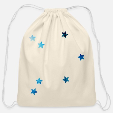 zodiac sign Libra galaxy - Cotton Drawstring Bag