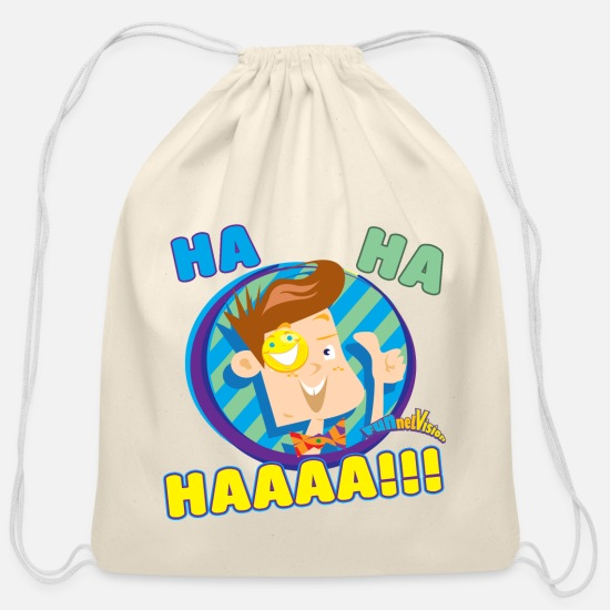 Kids Bags & Backpacks - FUNnel Ha Ha Kids Premium T-Shirt - Cotton Drawstring Bag natural