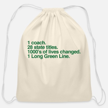 Base Line The Long Green Line #'s - Cotton Drawstring Bag