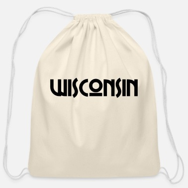 State Of Wisconsin Wisconsin Milwaukee Madison US State United States - Cotton Drawstring Bag