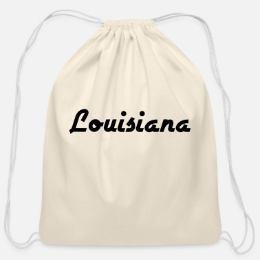 State Border Louisiana - New Orleans - Baton Rouge - US State - Cotton Drawstring Bag