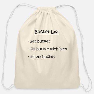 Bucket List party festival beer - Cotton Drawstring Bag