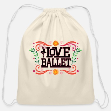 Toe Love Ballet - Cotton Drawstring Bag