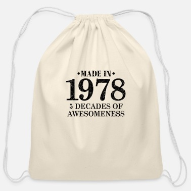 Grandchild 1978 Vintage gift outfit - Cotton Drawstring Bag