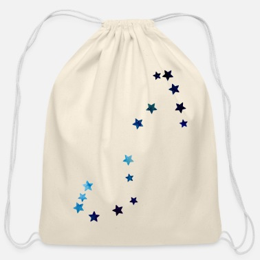 zodiac sign Scorpio galaxy - Cotton Drawstring Bag