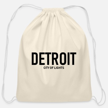 City Of Light Detroit - City of Lights - USA - Michingan - Cotton Drawstring Bag