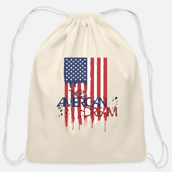 American Football Bags & Backpacks - american dream - Cotton Drawstring Bag natural