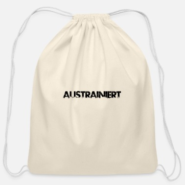 Schwarz austrainiert schwarz - Cotton Drawstring Bag