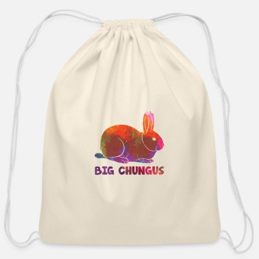 Video Big Chungus Meme Art watercolor gift - Cotton Drawstring Bag