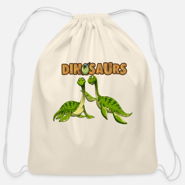 Dinosaurs dinosaurs - Cotton Drawstring Bag