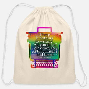 Valentine Typewriter hemingway typewriter - Cotton Drawstring Bag