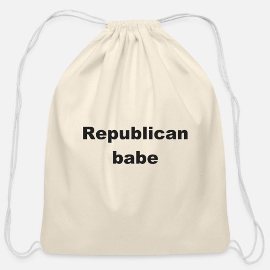 Birthday Bags & Backpacks - Republican Babe T-Shirt - Cotton Drawstring Bag natural
