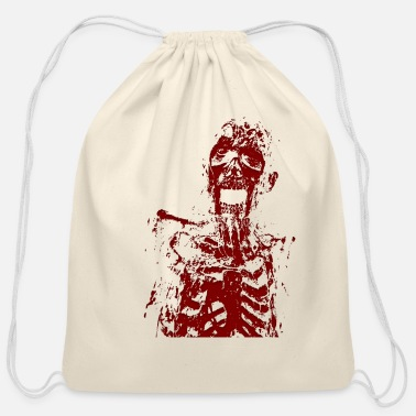 Zombie Zombie monster horror gift idea - Cotton Drawstring Bag