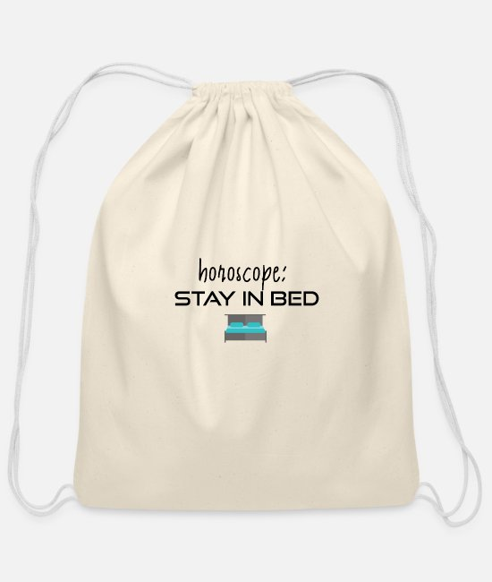 Bed Bags & Backpacks - Stay in bed - Cotton Drawstring Bag natural