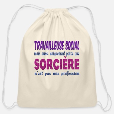 Social Witch Social Worker - Cotton Drawstring Bag