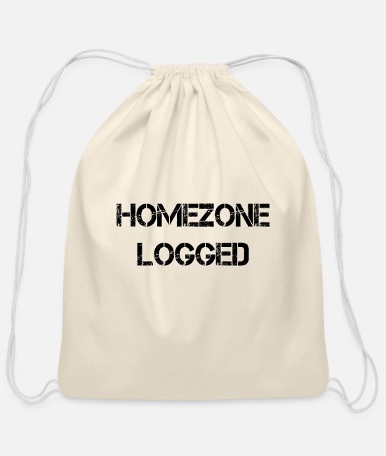 Geocaching Bags & Backpacks - Homezone logged - Cotton Drawstring Bag natural