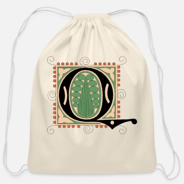 Font font - Cotton Drawstring Bag