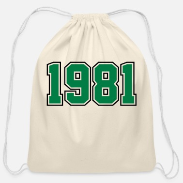 Year Of Birth 1981 | Year of Birth | Birth Year | Birthday - Cotton Drawstring Bag