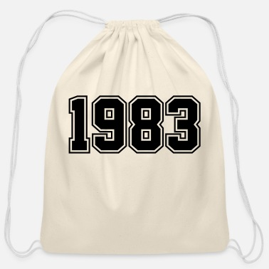 Year Of Birth 1983 | Year of Birth | Birth Year | Birthday - Cotton Drawstring Bag